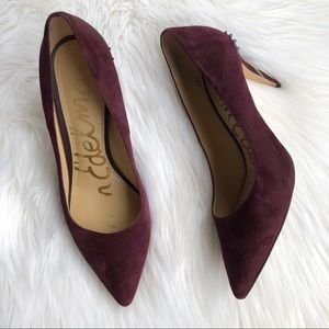 [Sam Edelman] Purple Suede Pointy Toe Pump's - 8.5
